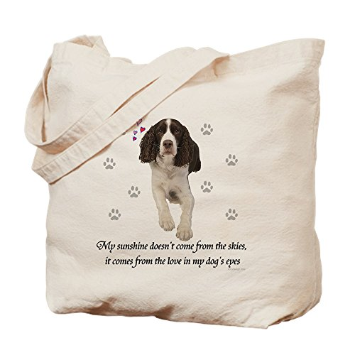 CafePress – English Springer Spaniel – Leinwand Natur Tasche, Reinigungstuch Einkaufstasche S khaki (English Bag Spaniel Springer Tote)