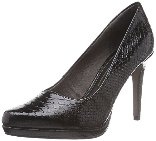 Tamaris 22448, Damen Pumps, Schwarz (Blk Struct.Pat 010), 40 EU (6.5 Damen UK)
