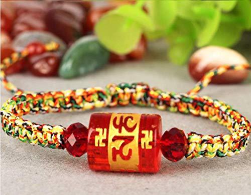 on Armband Fünf-Farben-Seil Fünf-Linien-Armband Männer und Frauen Modelle Frieden Handwerk romantische Damen Klassische Geschenke, 9 ()