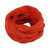 slyqc Twist Wollschal Herbst und Winter Schal Schal Strickkragen orange