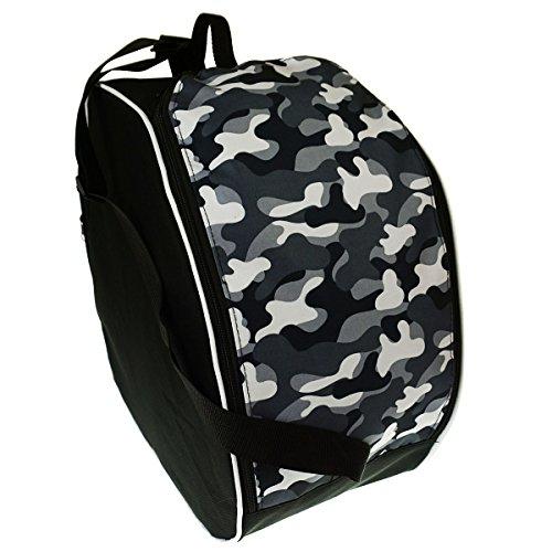 Bellissima e capiente borsa porta scarponi sci snowboard boot sacchetto della copertura per scarponi da sci tessuto mimetico moro [054]