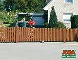 JODA Holz Doppeltor Vorgartenzaun 350x80 Zauntor Holztor Walnuss