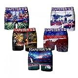 CAPSTER'S - Lot 5 boxers - Garçon - Taille 14/16 ans