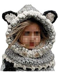 35479b01865f SevenPanda Enfants Baby Animal Fox Casquette Manteau Tricot Capuche Cagoule  Hiver laine tricotés chapeaux bébé…
