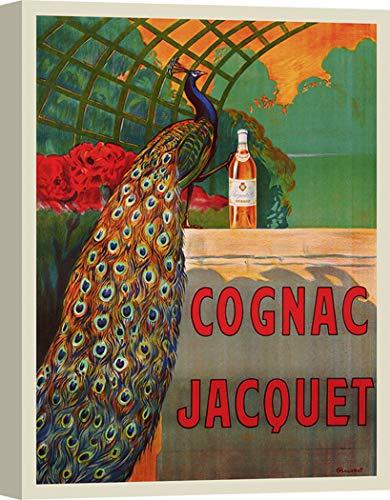 Art Print Cafe – Kunstdruck auf Leinwand - Küche & Vintage Plakat – Camille Bouchet, Cognac Jacquet, ca. 1930 – 70x50 cm