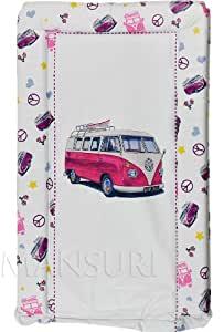 Baby Changing Mat Padded Luxurious Comfortable Camper Van Retro (Pink)