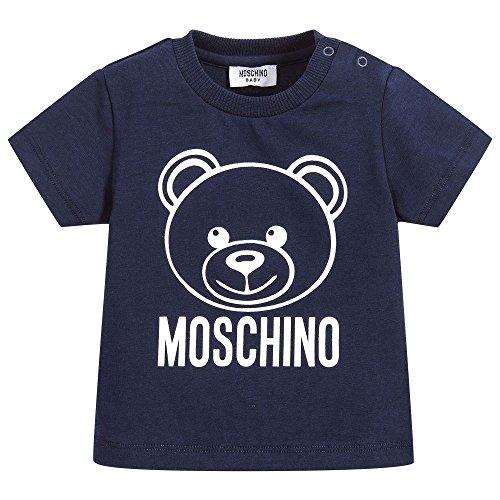 Moschino t-shirt blu con orsacchiotto 12m