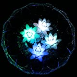 LED ardux Schwimmkerze, lily-shape für die Beleuchtung mit Farbwechsel Tealight, wasserfest, Nachtlicht, LED-Kerze mit battery-powered (4Stück)