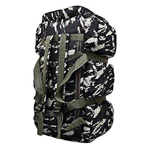 Outdoor Mit Hohen Kapazität Bergsteigen Taschen 90L Gepäck Reisen Camping Tarnung Rucksack,Black 4#Camouflage