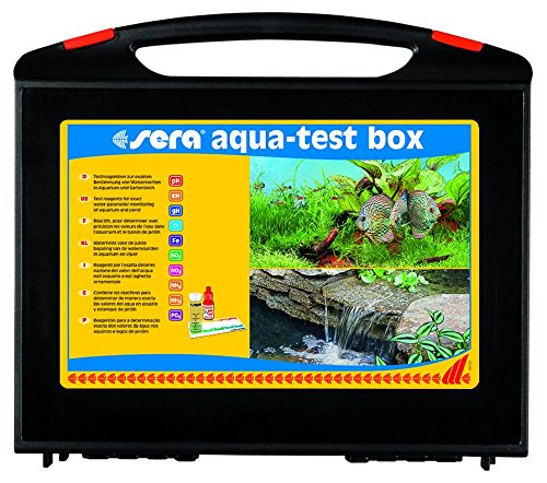 Cl Wasser (sera 04003 aqua-test box (+Cl) - Wasser testen für Fortgeschrittene pH, GH, KH, NH3/NH4, NO2,NO3, PO4, Fe und Cl - schnell, genau, professionell)