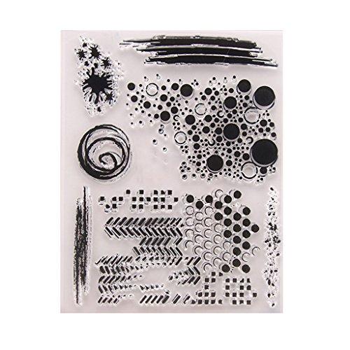 wiffe Silikon transparente Stempel mit Blätter zum Basteln Scrapbook-Karte Album t1336