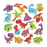 Baker Ross Moosgummi-Aufkleber 'Dinosaurier' (120 Stück) - lustige Moosgummi-Aufkleber mit Dinos für Collagen und Bastelarbeiten