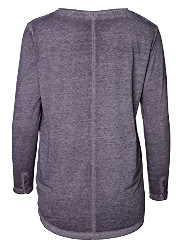 DAILY'S KERSTIN Damen oversize Langarmshirt mit abgerundetem V-Ausschnitt aus Baumwolle und Polyester - soziale fair trade Kleidung, Mode vegan und nachhaltig Color loft, Size S - 2