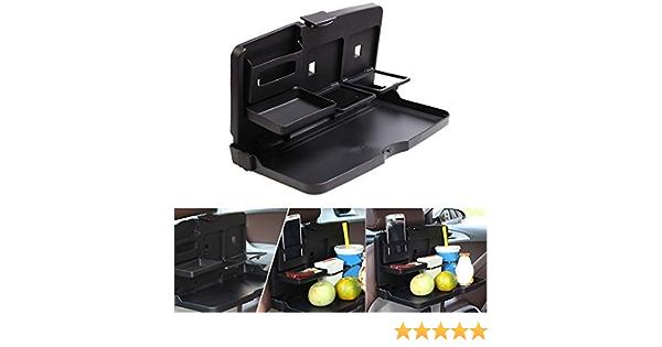 Coomir Auto Esstisch Essen Rücksitz Tablett Umklappbar Becherhalter Schreibtisch Getränke Für Kinder Auto