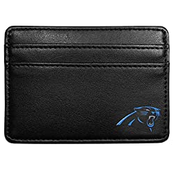 NFL Carolina Panthers Leather Weekend Wallet, Black