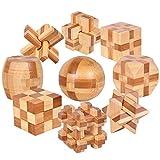 Difícil Intermedia 9 Piezas Rompecabezas de Madera Juguetes Caja Set - Educa Brain Teaser Puzzle de Madera - Juegos de Logica para Adultos - Juego de Ingenio Ideales y Regalos para Niños y Infantiles