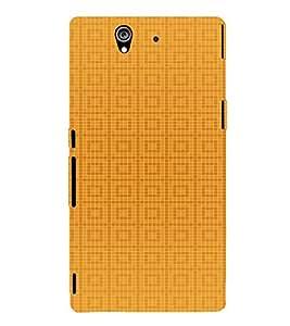 EPICCASE Yellow Box Design Mobile Back Case Cover For Sony Xperia Z (Designer Case)