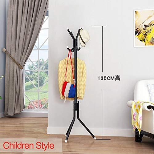 LESHARED Einfache Stehende Kleiderbügel Kleiderständer Boden Wohnzimmer Schlafzimmer Möbel Kreative Hauptdekoration Metall Hut Kleidung StehenKinder Stil - Möbel-stil Stehen