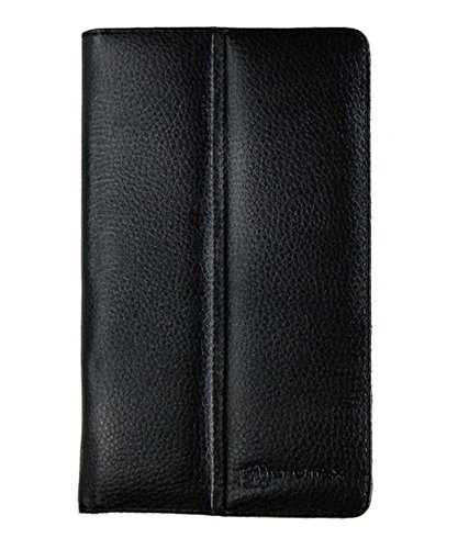 LEATHER FLIP CASE FOR MICROMAX CANVAS TAB P666 TABLET FRONT & BACK FLAP COVER STAND HOLDER