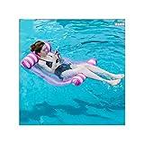 XINGMU Umweltschutz PVC-Aufblasbares Floatation Kreative Wasser Hängematte Erwachsene Liegestuhl Schwimmen Aufblasbare Schwebendes Bett Blau