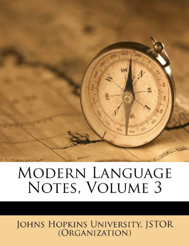 Modern Language Notes, Volume 3