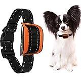 MASBRILL Anti-Bell-Halsband für Kleine und mittelgroße Hunde Vibration Erziehungshalsband Ohne Schock Harmlos15-40cm Orange