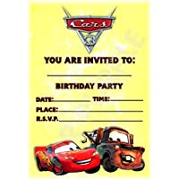 Disney Cars 3 Birthday Party Invites
