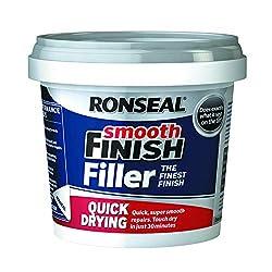 Ronseal 36553Wandspachtelmasse, schnell trocknend, fertig angemischt, glattes Finish, Weiß