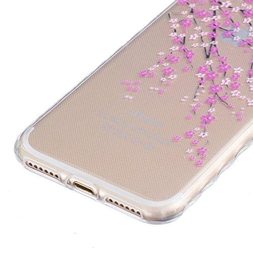 Cover iPhone 7, Custodia iPhone 7, Sunroyal® 3D Creativa Cover Ultra Sottile Trasparente TPU Gel Silicone Morbido Flessibile TPU Gel Protettivo Skin Caso Custodia Protettiva Shell Case Cover Per iPhon Pattern 13