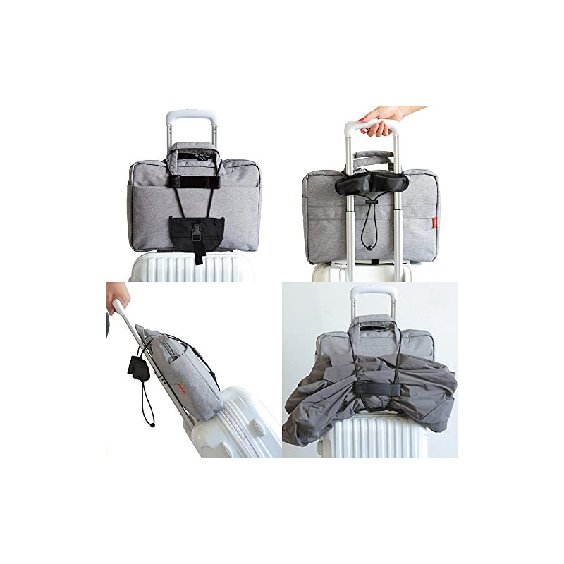 AFUNTA 4 Packs Add A Luggage Belt and Straps, Adjustable Travel Suitcase Belt Attachment Accessories for Connect Luggage…