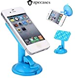 ApeCases Branded 360 Degree Rotable Car Tablet Holder for Smart Mobile Phone/GPS/Pad Placing Plate