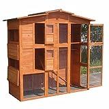 XXL Hühnerstall Freilaufgehege Freigehege Holz Hasen Stall Kaninchenstall