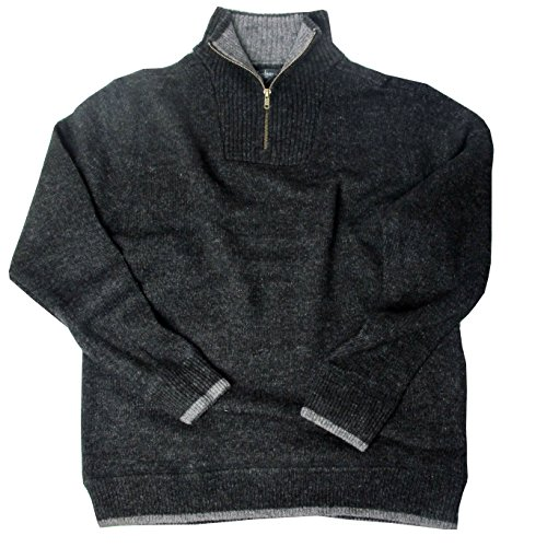Irischer Troyer Pullover aus Lammwolle Anthrazit (XXL) (Schurwolle Pullover)