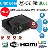 #4: UNIC UC46 Portable 1080P 800x480 Resolution WiFi LED Projector
