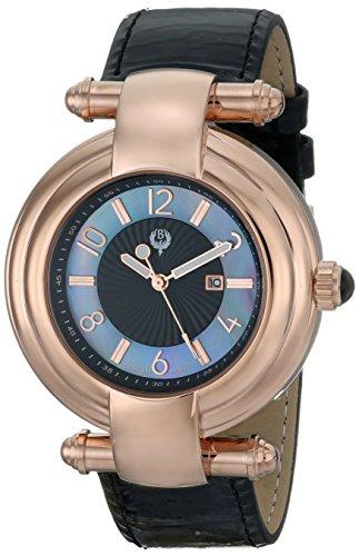 Brillier 31–03Klassique de la mujer analógico pantalla Cuarzo Negro Reloj