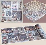 Weihnachten Tischläufer alpstyle mit liebevollem Patchwork Fotodruck 40x90 cm in Leinenoptik Tischdecke Landhaus Weihnacht Modern Country Hüttenstil Typ365