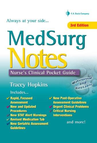 MedSurg Notes Nurses Clinical Pocket Guide (MedSurg Notes ...