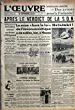 Telecharger Livres OEUVRE L No 8840 du 16 12 1939 COMMENT DOIT ON SCANDER CE NOUVEAU SLOGAN DES AVIONS POUR LA FINLANDE APRES LE VERDICT DE LA S D N SUR MER ET DANS LES AIRS BATAILLE AERIENNE AU DESSUS D HELIGOLAND LES AVIONS DE LA R A F ATTAQUES PAR LES CHASSEURS ALLEMANDS ABATTENT QUATRE APPAREILS ENNEMIS TROIS AVIONS ANGLAIS SONT MANQUANTS LE GRAF SPEE GUETTE PAR DE NOUVELLES UNITES BRITANNIQUES DEVRAIT QUITTER MONTEVIDEO CE MATIN LA CHAMBRE A ADOPTE A L UNANIMITE LE BUDGET DE 1940 (PDF,EPUB,MOBI) gratuits en Francaise