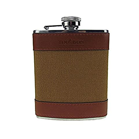 Tourbon Hunting Stainless Steel Wine Pot Bottle Hip Flasks For Men For Game Shooters (6OZ Canvas and