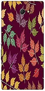 Snoogg A Seamless Pattern With Leaf Designer Protective Back Case Cover For S...