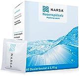 NARSA® Nasenspülsalz 60stk zur Reinigung der Nase bei Erkältung / Allergie / Trockener Nase / Nasendusche / Nasenreinigung / Nasenreiniger / Nasensalz / Salz / Nasenspülung bei Schnupfen