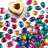 Baker Ross grote zelfklevende acryl edelstenen  (120 stuks) om te knutselen voor kinderen