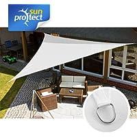 sunprotect 83234 Professional Toldo / Vela de Sombra, 5 x 5 x 5 m, Triángulo, blanco