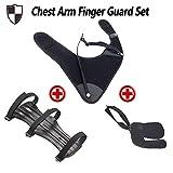 WEREWOLVES Bogenschießen Leder Brust Arm Finger Wachen Für Bogen Schwarze 1 Set