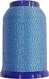 Overlock/Metallic Bauschgarn (1000 m) blau-silber