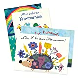 4er Set Glückwunschkarten zur Kommunion von Aurélie Blanz und Nastja Holtfreter