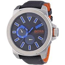 Hugo Boss  New York Multieye - Reloj de cuarzo para hombre, con correa de nailon, color negro