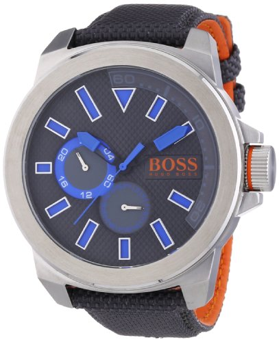 Boss Orange men's Quartz Watch Analogue Display and Textile Strap 1513013