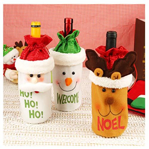 Longz HUO 3Piezas verdicken Navidad Vino Botella