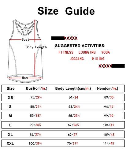 icyzone® Damen Funktions-Tanktop Sporttop Unterhemd Stretch fuer Yoga Fittness training Damen Tanktop Racerback ,Black/Granite/Orange,M